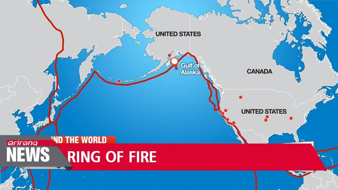 Volatile Ring Of Fire Causes Earthquakes Volcanoes At Opposite Ends