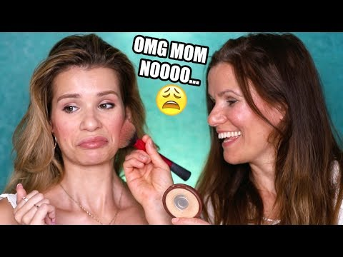 MY MOM GIVES ME A MAKEOVER! Full Face Makeup, Hair, & Outfit