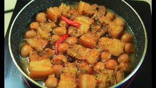 Cách nấu thịt kho tàu tuyệt ngon màu đẹp mà không cần nước dừa màu