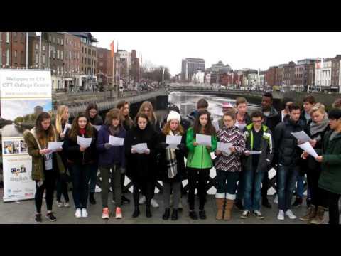 Ces Students from Vienna singing Dóchas Linn Naomh Pádraig