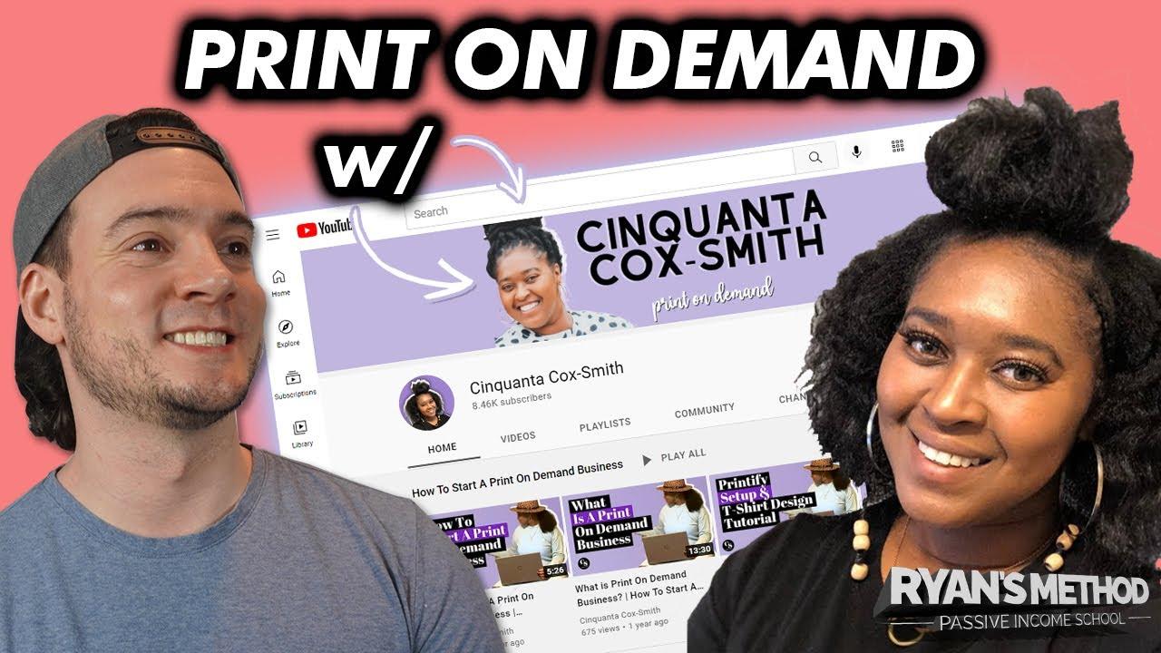 INTERVIEW: How Cinquanta Cox-Smith Makes Passive Income w/ Print on Demand!