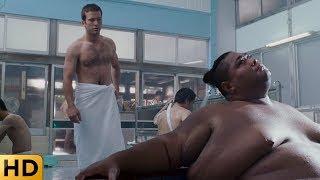 Шон выбивает долги Хана в публичной бане. Тройной форсаж.
