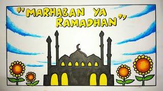 Gambar poster marhaban ya ramadhan