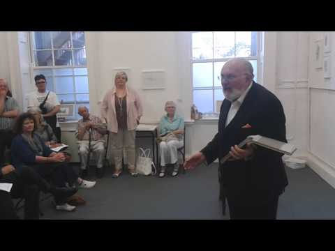 David Norris reads extracts from Ulysses at the Olivier Cornet Gallery in Dublin