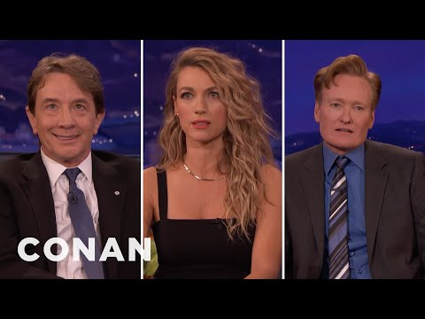 Natalie Zea Teaches Conan & Martin Short About Flashback Face - CONAN on TBS
