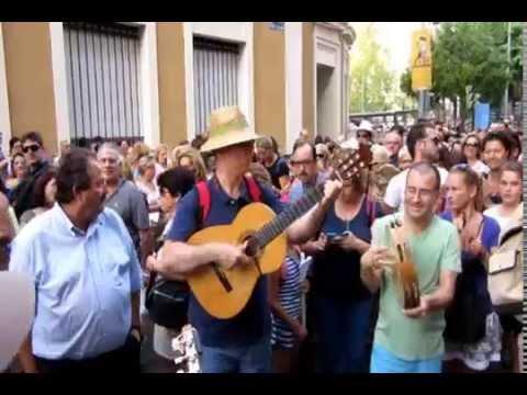 Romería de la Fuensanta. Cuadrilla y música. Murcia (España),  16-09-2014