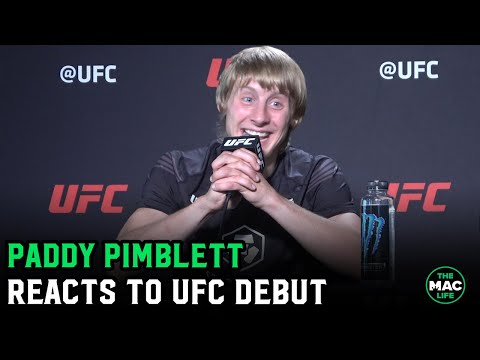 """Paddy Pimblett reacts to UFC debut: """"I was put on this earth to entertain people and beat people up"""""""
