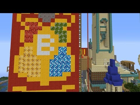 I asked my Subscribers to build a knock-off Hogwarts Castle in Minecraft