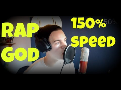 """Rap God"" Fast Rap - Trying 150% Speed ""cover"""