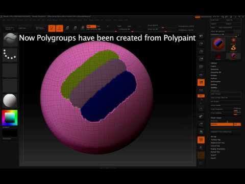 Masking by Polygroups in ZBrush