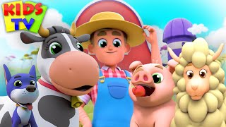 Old Macdonald Had a Farm | kids tv nursery rhymes | This is the way | Wheels on the bus