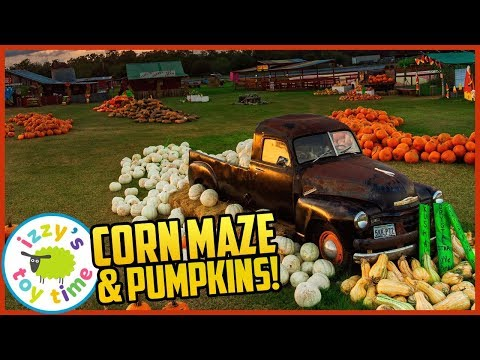 LOST IN A CORN MAZE! HELP! Izzy's Toy Time Heads to Sweet Berry Farm!
