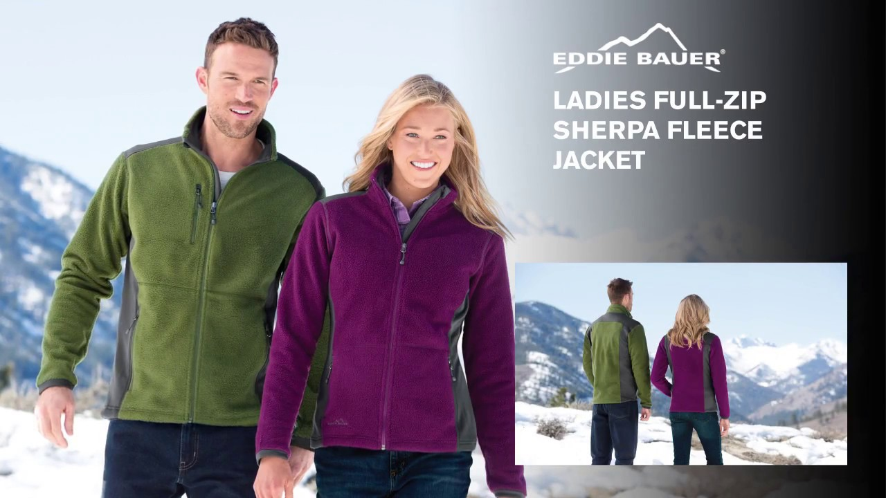 26239312320 EB233 Eddie Bauer Ladies Full Zip Sherpa Fleece Jacket HD - YouTube