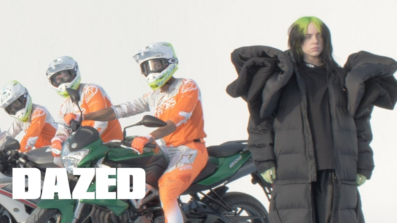 Bikers Goats And Balloons On Set With Billie Eilish For Her Dazed Cover Shoot Youtube