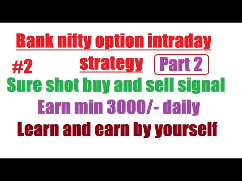 bank nifty option intraday trading strategy | bank nifty intraday sureshot profit strategy | part2