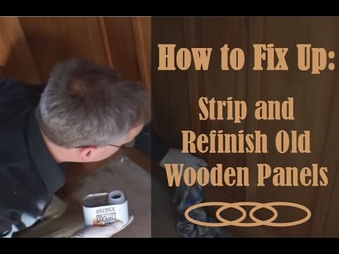 Refinish Wood Panelling Learn How To Strip And