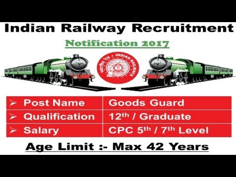 Indian Railway Recruitment | Latest 12th pass jobs | Government jobs 2017