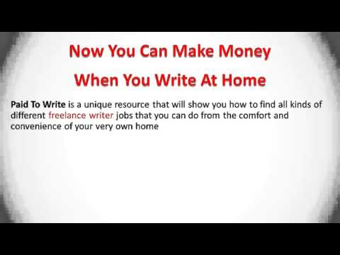 Writing Jobs from Home   Become a Freelance Writer