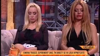 Simona Trasca, adormita cu ajutorul hipnozei!