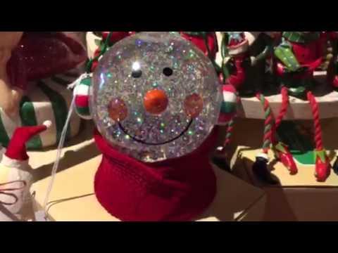 Snowman Swirling Glitter Snow Globe ~ Light Up - YouTube