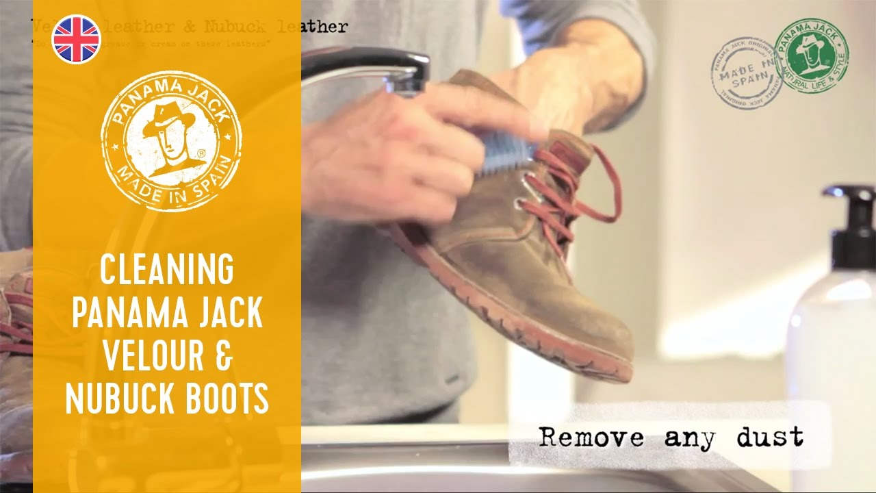 How to Clean Your Panama Jack Velour & Nubuck Boots - YouTube