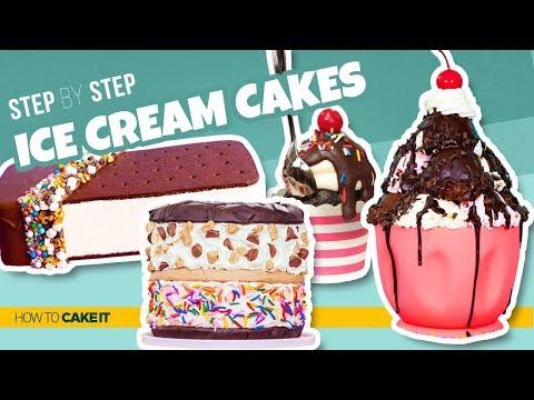 4 Delicious Ice Cream CAKES | Cones & Sundaes As CAKE | How To Cake It | Yolanda Gampp