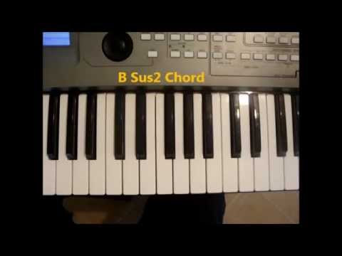 How To Play B Sus2 Chord On Piano Bsus2 Youtube