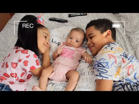KIDS TAKE CARE OF BABY SISTER ALONE