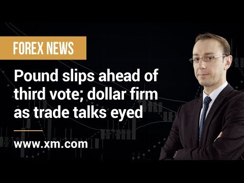 Forex News: 29/03/2019 - Pound slips ahead of third vote; dollar firm as trade talks eyed