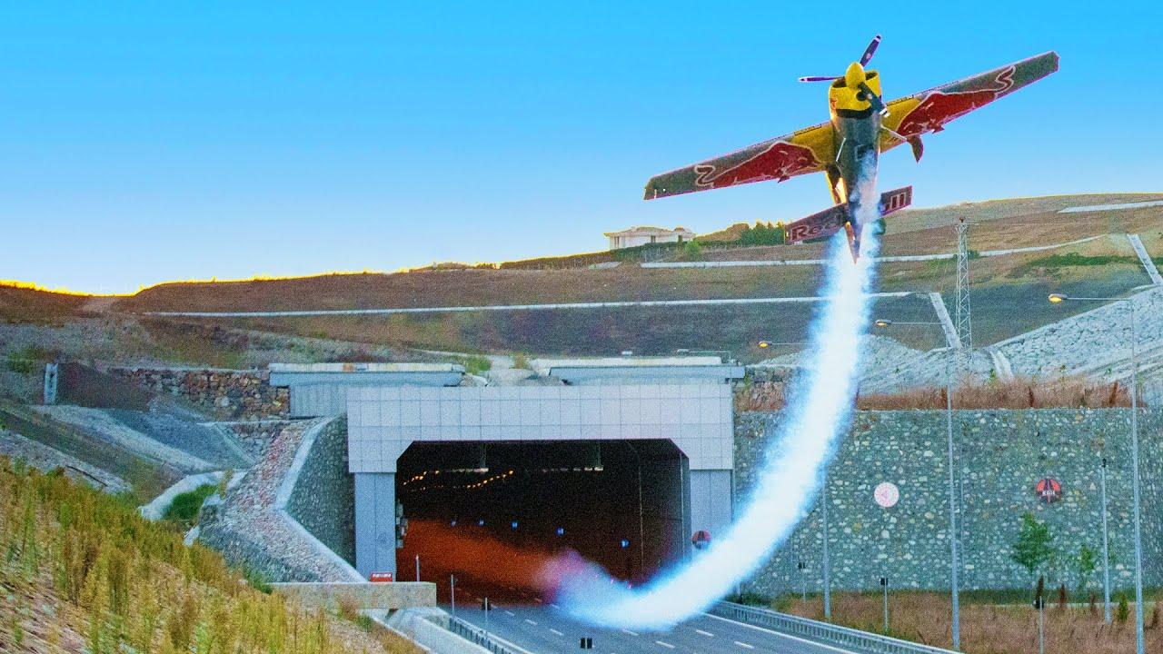 Flying A Plane Through Tunnels: World First   4K HD