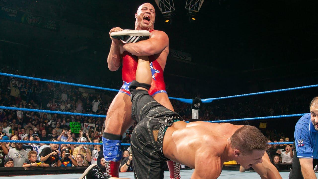 Kurt Angle forces John Cena to submit: WWE No Mercy 2003