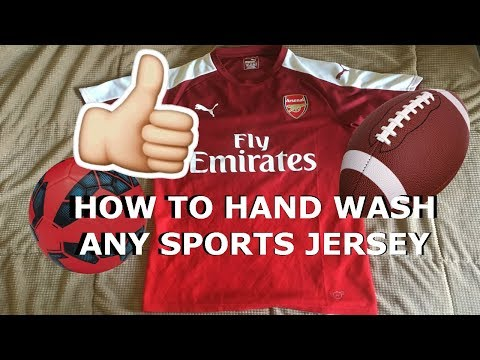 How to hand wash ANY sports jersey with everyday items!