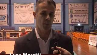 11-01-2012: Intervista a Luca Moretti dopo la sconfitta di Milano sul campo di Molfetta in coppa