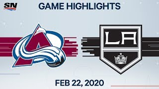 NHL Highlights | Avalanche vs. Kings - Feb. 22, 2020