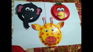 How to make paper plates animal faces by tchh