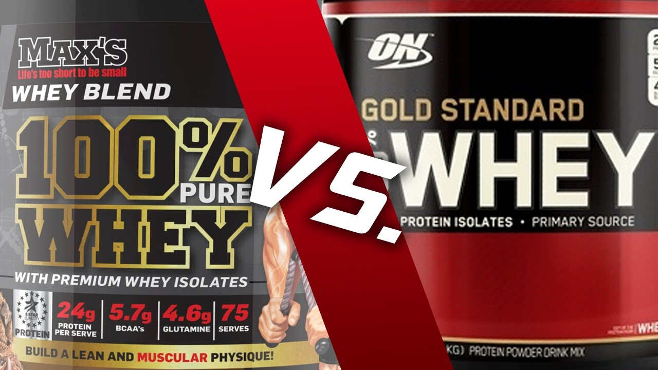 The Best Whey Protein On 100 Vs Maxs Youtube