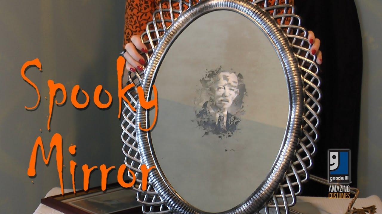 287513cfddac Spooky Mirror Halloween DIY Project With Goodwill Decor Expert Merri Cvetan