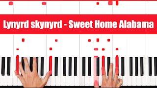 Sweet Home Alabama Lynyrd skynyrd Piano Tutorial - EASY