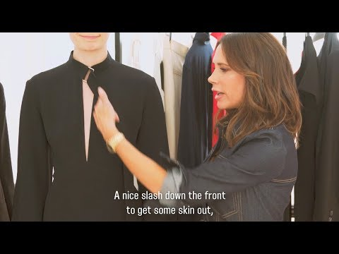 How did Victoria Beckham choose her dress for the Royal Wedding