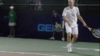 John McEnroe Forehands in Slow Motion