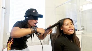 BLINDFOLDED HAIRSTYLE CHALLENGE!!!