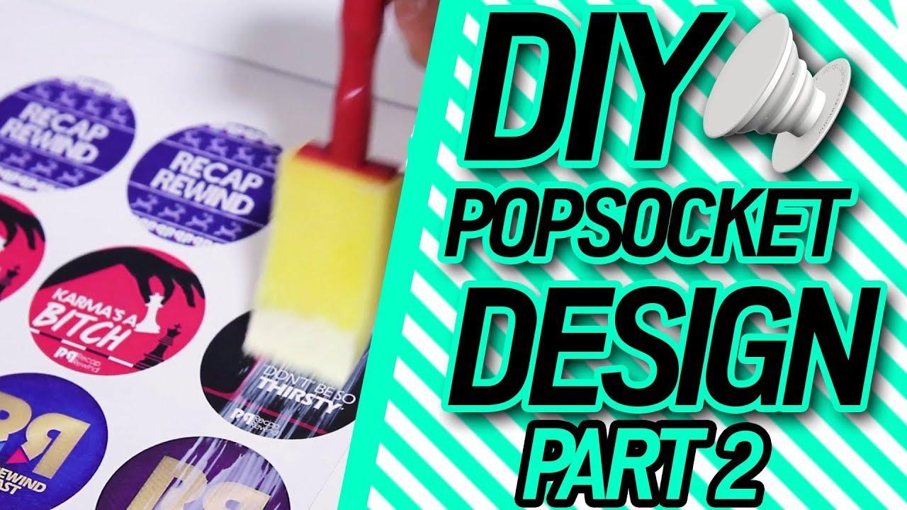 Diy design your own riverdale popsocket part 2 youtube for Made design