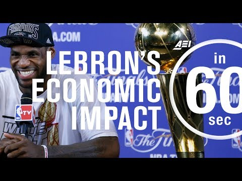Lebron James' economic impact on Cleveland and Miami | IN 60 SECONDS