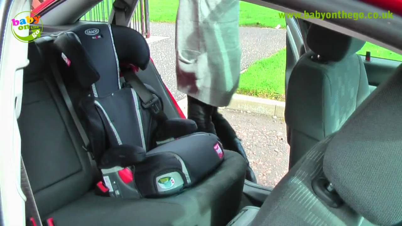 graco logico l x comfort booster car seat fitting guide youtube. Black Bedroom Furniture Sets. Home Design Ideas