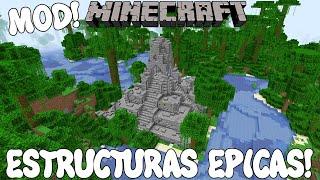 ESTRUCTURAS EPICAS! Minecraft 1.16.1 MOD MO' STRUCTURES!
