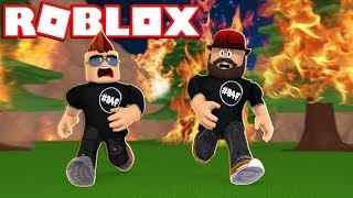 ESCAPE FROM DEADLY FIRE STORM à ROBLOX FIRE RUN
