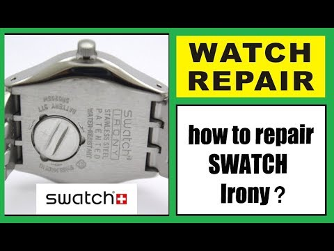 Swatch Watch Repair. Complete Disassembly Of Swatch Movement