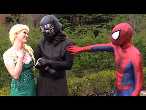 Spider-Man and Frozen Elsa BREAK UP! Real Life Superhero Movie - theSeanWardShow