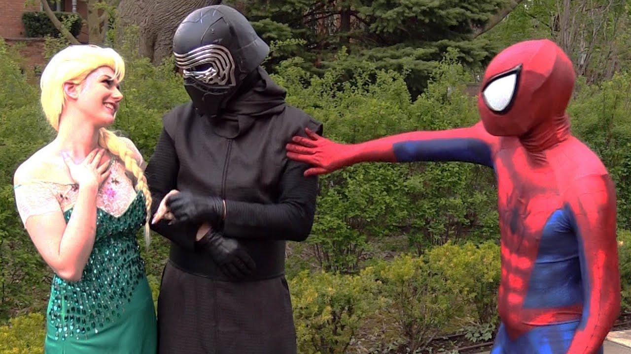 Download Spider-Man and Frozen Elsa BREAK UP! Real Life Superhero Movie - theSeanWardShow