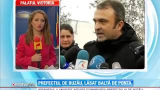 Prefectul de Buzău a fost demis